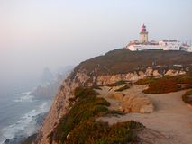Cabo da Roca Lighthouse Royalty Free Stock Photos