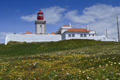 The Cabo da Roca lighthouse stock photos