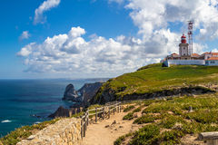 Cabo da Roca lighthouse Royalty Free Stock Image