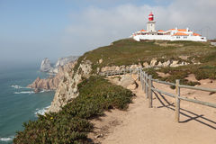 Cabo da Roca Lighthouse, Portugal Royalty Free Stock Photography