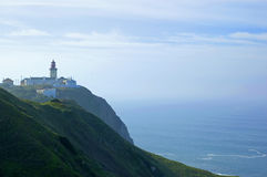 Cabo da roca lighthouse at portugal Royalty Free Stock Image