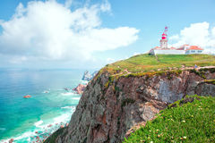 Cabo da Roca and the lighthouse Stock Image