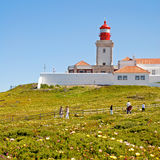 Cabo da Roca Lighthouse, Portugal. Royalty Free Stock Photo
