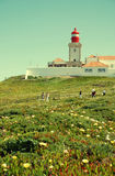 Cabo da Roca Lighthouse, Portugal. royalty free stock image
