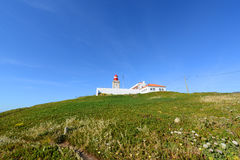 Cabo da Roca Lighthouse, Sintra, Portugal Royalty Free Stock Images