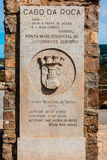 Cabo da Roca monument in Portugal. Royalty Free Stock Photography
