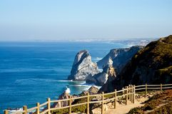 Cabo da Roca, the most west point of Europe. Beautiful view of Cabo da Roca, the most west point of Europe Stock Image