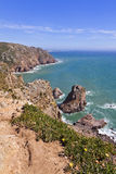 Cabo da Roca - the most western point of Europe Royalty Free Stock Image