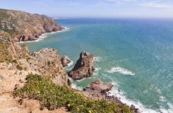 Cabo da Roca - the most western point of Europe Stock Photo