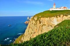 Cabo da Roca, Oceano Atlantico, Portogallo Fotografia Stock Libera da Diritti