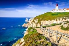 Cabo da Roca, Portugal - Atlantic Ocean stock photography