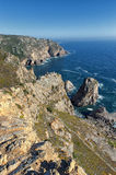 Cabo da Roca, Portugal. Cabo da Roca (Cape Roca) is a cape that forms the westernmost point of mainland Europe (and of mainland Portugal Stock Photo