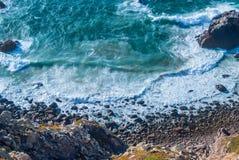 Cabo DA Roca, Portugal klippen over de Atlantische Oceaan, het meest westelijke punt van het Europese vasteland Stock Fotografie