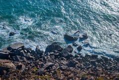 Cabo DA Roca, Portugal klippen over de Atlantische Oceaan, het meest westelijke punt van het Europese vasteland Royalty-vrije Stock Fotografie