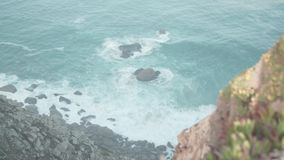 Cabo da Roca, Portugal stock video