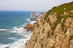 Cabo da Roca przylądek Roca, Portugalia Obrazy Royalty Free