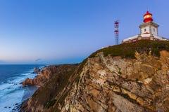 Cabo da Roca przylądek Roca, Portugalia - Zdjęcie Stock