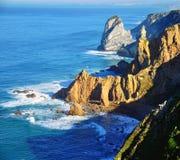Cabo da Roca scenic landscape, Portugal Royalty Free Stock Image