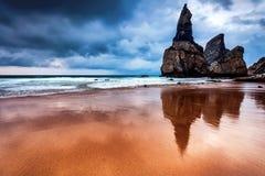 Cabo da Roca strand Fotografering för Bildbyråer