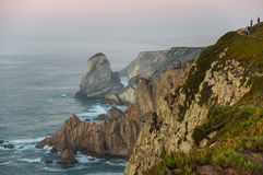 Cabo da Roca. View on Cabo da Roca Cape Roca, a cape which forms the westernmost extent of mainland Portugal and continental Europe Stock Images