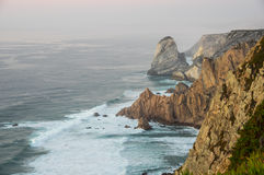 Cabo da Roca. View on Cabo da Roca Cape Roca, a cape which forms the westernmost extent of mainland Portugal and continental Europe Royalty Free Stock Photos