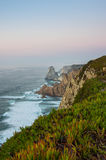 Cabo da Roca. View on Cabo da Roca Cape Roca, a cape which forms the westernmost extent of mainland Portugal and continental Europe Stock Photography