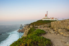 Cabo da Roca. View on Cabo da Roca Cape Roca, a cape which forms the westernmost extent of mainland Portugal and continental Europe Royalty Free Stock Image