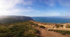 Cabo da Roca viewpoint fence Royalty Free Stock Photos