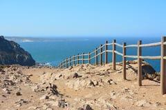 Cabo da Roca Vista sul mare fotografia stock