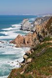 Cabo da Roca, the western point of Europe, Atlantic oce. Cabo da Roca, the western point of mainland Europe, Atlantic ocean, Portugal royalty free stock image