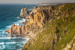Cabo da Roca, the western point of Europe - Portugal.  royalty free stock image