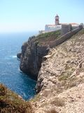 Cabo da Sao Vicente lighthouse stock images