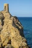 Cabo de加塔角自然公园在阿尔梅里雅,西班牙 免版税库存照片