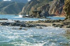 Cabo de加塔角自然公园在阿尔梅里雅,西班牙 免版税图库摄影