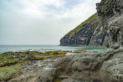 Cabo de加塔角自然公园在阿尔梅里雅,西班牙 库存照片