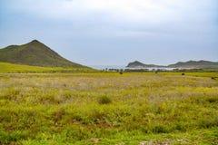 Cabo de加塔角自然公园在阿尔梅里雅,西班牙 库存图片