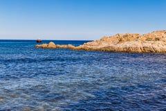 Cabo de Bonne Terrase cerca de Pampelonne Playa-Francia Fotos de archivo