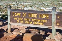 Cabo de Buena Esperanza, Suráfrica Fotografía de archivo libre de regalías
