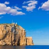 Cabo de Cabo de San Antonio en Javea Denia en España Imagenes de archivo