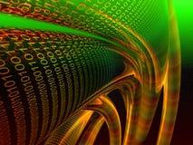 Cabo de dados binários alaranjado Fotografia de Stock