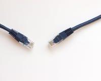 Cabo de Ethernet azul foto de stock
