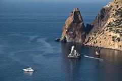 Cabo de Fiolent em Crimeia imagem de stock royalty free
