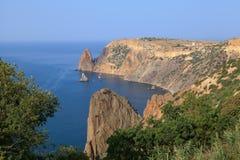 Cabo de Fiolent. O Mar Negro. Crimeia. Imagem de Stock