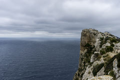 Cabo de Formentor in the Balearic Islands, Spain, high cliffs ne Royalty Free Stock Photo