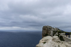 Cabo de Formentor in the Balearic Islands, Spain, high cliffs ne Stock Photography