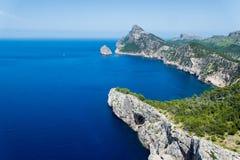 Cabo de Formentor en verano Foto de archivo libre de regalías