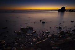 Cabo de Gata自然公园的海岸  库存照片