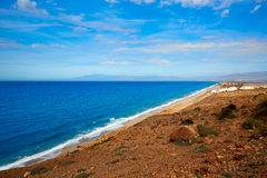 Cabo de Gata Almeria aerial San Miguel beach Stock Photography