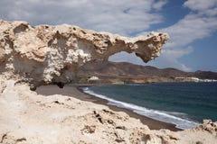 Cabo de Gata, Almeria Spain. Rock at Cabo de Gata, Almeria Spain Royalty Free Stock Photo