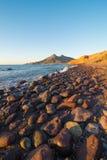 Cabo de Gata bay at sunrise stock images